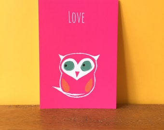 Owl Love A6 card