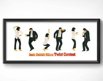 Pulp Fiction > Jack Rabbit Dance 45x105 cm-Poster sheet HQ exclusive/exclusive poster High Quality Printing-Tarantino 90s movie cinema