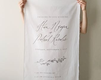 Predesigned Organic Calligraphy Banner / Custom Handlettered Menu / Program / Welcome Sign