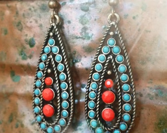 Bright Tribal Earrings