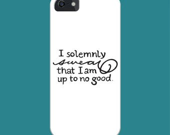Harry Potter Marauders Map Quote Phone Case - iPhone/Samsung