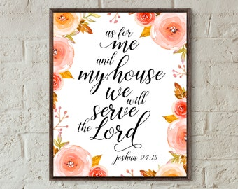 bible verse prints as for me and my house bible verse wall art motivational gift faith quotes printable christian wall art home decor prints