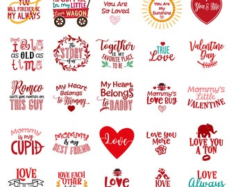 Valentine Svg Valentine's Day Bundle Svg Valentine's Day Svg Bundle Valentines Day Files Bundle Cut Files Silhouette Cricut Svg Dxf Png Cdr