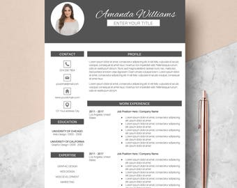 Professional Resume Template, CV Template for MS Word, Modern Design, Creative Resume, Teacher Resume, Instant Download, Buy 1 Get 1 Free