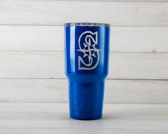 Yeti Tumblers Engraved With Seattle Mariners Personalized Yeti Tumblers 20 oz Seattle Mariners Yeti Gift For Men