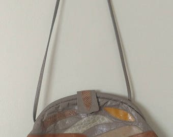 Patchwork handbag / 1960's / Evening bag / Grunge / Conversation piece