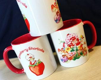 Strawberry Shortcake Mug Custom Vintage Doll Style