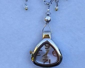 Silver Spoon brooch watch, nurse lapel watch