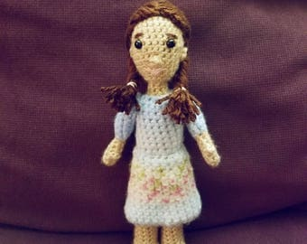 crAFty Characters: Laura Ingalls Wilder doll, the Little House on the Prairie, Handmade Pioneer doll, Classic Children's Book collection