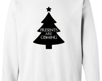 Game of Thrones Christmas Style Presents are Coming Ugly Christmas Sweater