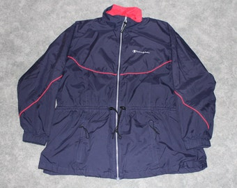 Vintage Champion Windbreaker - champion pullover - lightweight Jacket - teal - Champion brand - 90s champion - 90s - size XL iixl63y
