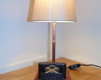 Antique 1900s Camera Table/Occasional Lamp bespoke, industrial,