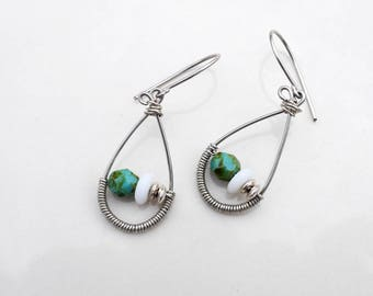 Sterling Silver Bohemian Earrings • Sterling Silver Earrings