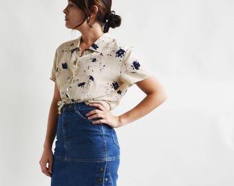 Vintage Denim Mini Skirt