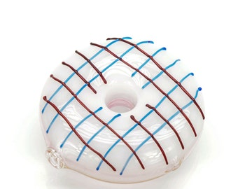 Donut Pipe by STR8 PIPES - Art Glass | Hand Blown Glass 100g