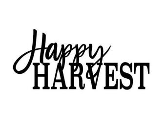 Happy Harvest SVG