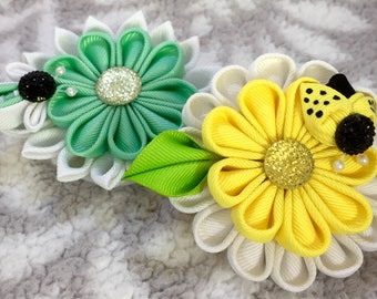 Handmade Colorful  Flower Headband | Girls Hair Accessories