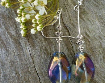 Iridescent Crystal AB drop earrings