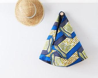 Cabas graphique en wax / Sac Origami réversible en tissu africain / Sac fourre-tout / Tote bag tissu ethnique / Upcycling