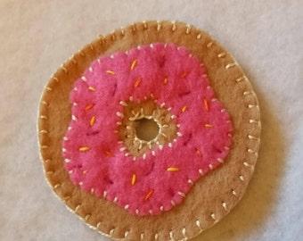 """Pink Sprinkle Donut Magnet - """"The Homer"""""""