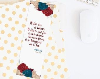 "Bookmark quote The Selection - Kiera Cass - ""Break my heart. Break it a thousand times if you like... Maxon"""