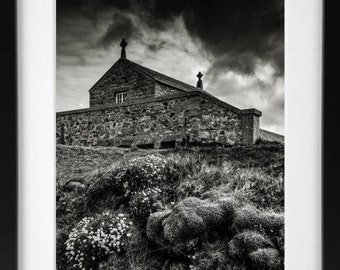 The Island Chapel, St Ives, Cornwall, A3 Print, Digital Photography