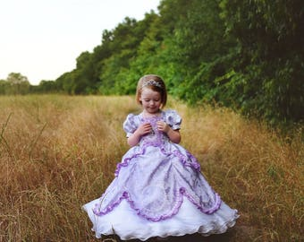Sofia the First dress Disney Princess outfit Flower Girl wedding gown Halloween costume for girl queen marie antoinette cosplay birthday