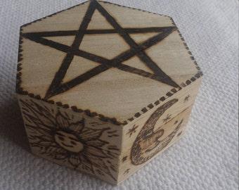 Wooden Storage Box - Spiritual