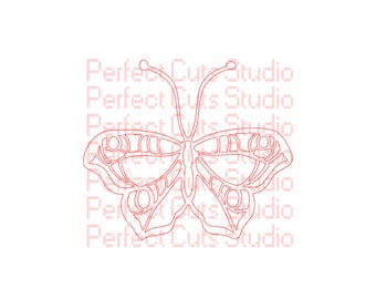 2 for 1 - Butterfly SVG & Studio3 Cut File and Butterfly Stencil - Cricut Files - Silhouette Studio - Downloads - Cutouts - Stencils