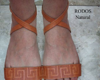 Sandals Women's,Women's Sandals,Handmade Leather Sandals,Natural Sandals,Strappy Sandals,Sandales grecques,ARXAIKO,Classic sandals RODOS