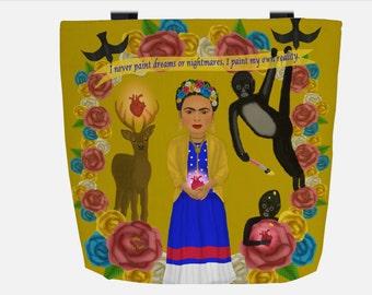 Yellow Frida Kahlo (Everyday Use) Tote Bag
