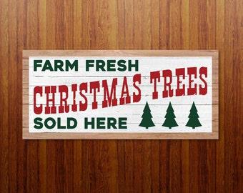 Christmas Tree Farm SVG, Christmas Tree Farm Sign, Magnolia Farms Christmas SVG, Modern Farmhouse, Joanna Gaines, Print, Fixer Upper Vector