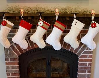Rustic christmas stocking | Etsy