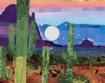 Vibrant Desert Magazine Collage
