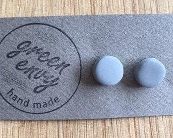 Grey Polymer Clay Earrings