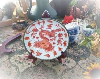 Japanese Porcelain Ware Dragon Motif - decorated in Hong Kong for Lord  Taylor