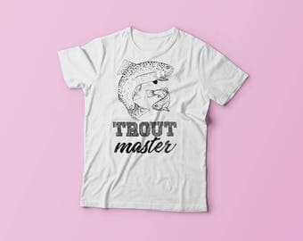Trout Master Fishing Shirt - Funny Fly Fishing Womens T-Shirt - Trout Master Tee - Women's Short Sleeve T-shirt
