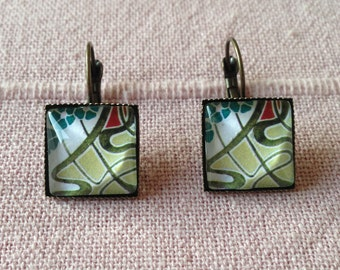 Art Nouveau Earrings Earrings