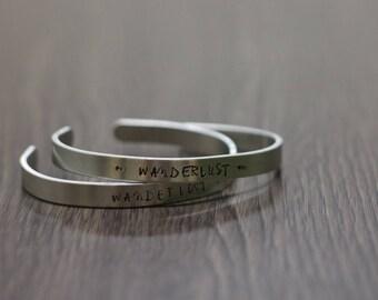 Inspirational Bracelet: WANDERLUST