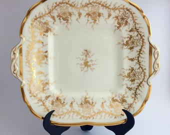 Pretty antique Cauldon gold plate c.1904-20 in pattern 4241 FREE SHIPPING