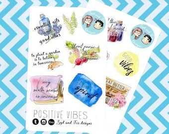 Positive Vibes - Sticker set