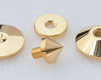 Gold Plated levelling cone set of four