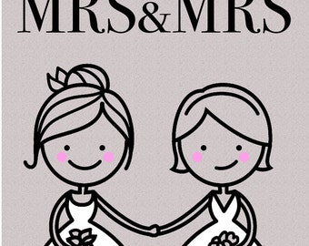 Gay 'Congratulations MRS&MRS' Greetings Card