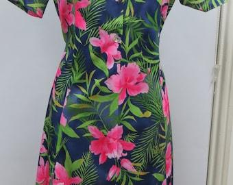Summer Floral Print Dress For The Older Woman. Vintage Dresses Elderly Ladies. Sizes 12 - 24.