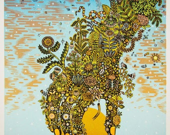 Eve - Woodcut Print, Woodblock Print by Tugboat Printshop, Valerie Lueth