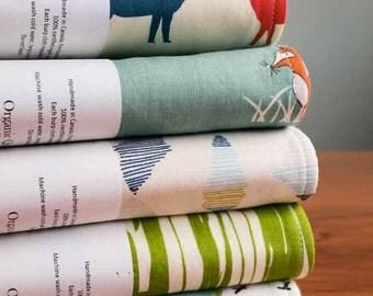Burping Cloths Gift Set; Organic Cotton Burp Cloths, Woodland Deer, Fox, Wood Grain, River Campers; Unique Baby Shower Gift; MODERN CAMPING