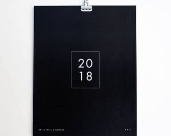 2018 Wall Calendar - Basic