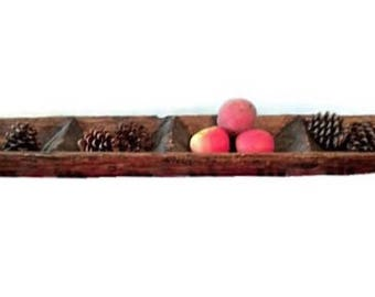 Primitive carved wood tray - 37 inches long - Rustic - Handcarved from log