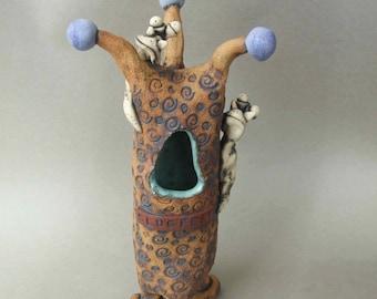 Ceramic Slug Vase: Slugfest