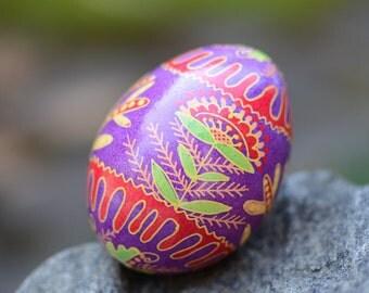Purple pisanka by Katya Trischuk Ukrainian Easter Eggs by Toronto artist